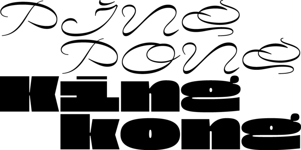 Typographic website design